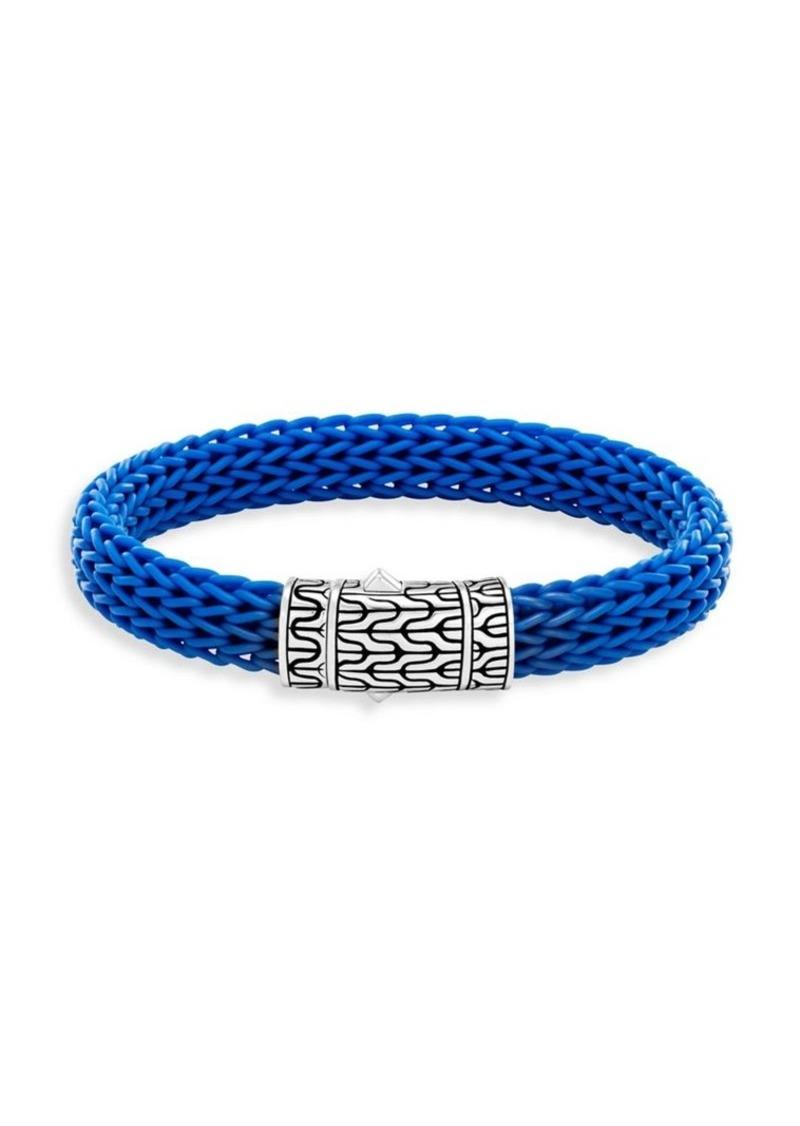 John Hardy Classic Silver & Rubber Bracelet