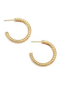 """John Hardy Dot 18K Yellow Gold Hoop Earrings/0.75"""""""