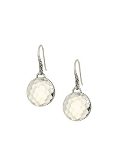 John Hardy Dot Drop Hammered Earrings