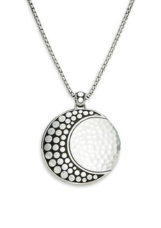John Hardy Dot Moon Phas Sterling Silver Pendant Necklace