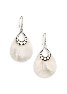 John Hardy Dot Mother-Of-Pearl & Sterling Silver Drop Earrings