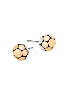 John Hardy Dot Small 18K Bonded Yellow Gold & Silver Ball Stud Earrings