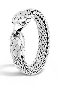 John Hardy Men's Silver Eagle Head Chain Bracelet