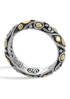 John Hardy 18K Gold & Sterling Silver Jaisalmer Band Ring - Size 7
