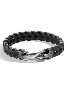 John Hardy Asli Classic Leather Chain Bracelet