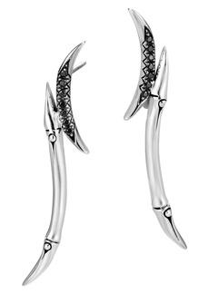 John Hardy Bamboo Black Sapphire & Spinel Drop Earrings