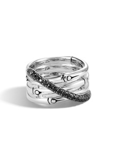 John Hardy Bamboo Black Sapphire & Spinel Ring