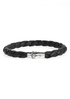 John Hardy Bamboo Braided Leather Bracelet
