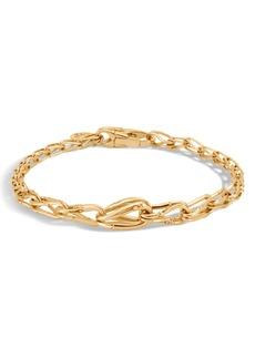 John Hardy Bamboo 18K Gold Graduated Link Bracelet
