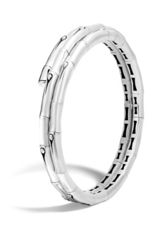 John Hardy Bamboo Sterling Silver Small Double Coil Bracelet