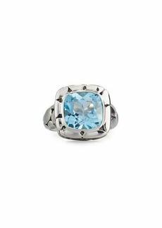 John Hardy Batu Kali Square Blue Topaz Ring