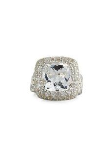John Hardy Batu Klasik Square White Topaz Ring