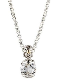 John Hardy Batu Sari White Topaz Pendant Necklace