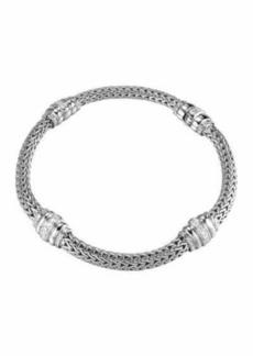 John Hardy Bedeg Diamond-Station Silver Bracelet