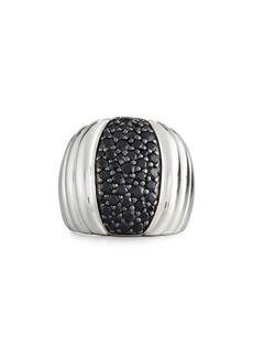 John Hardy Bedeg Lava Dome Black Sapphire Ring