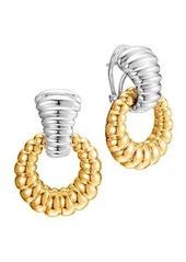 John Hardy Bedeg Silver & 18k Door-Knocker Earrings