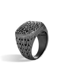 John Hardy Black Rhodium Signet Ring