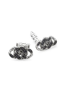 John Hardy Black Sapphire & Sterling Silver Cuff Links