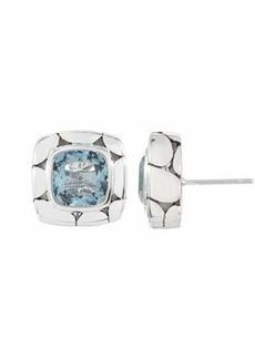 John Hardy Blue Topaz Square Stud Earrings