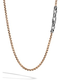 John Hardy Box Chain Men's Bronze & Sterling Silver Necklace