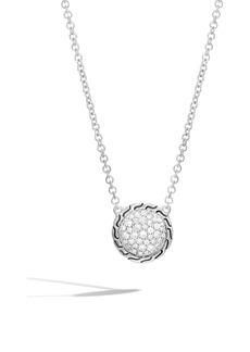 John Hardy Chain Classic Pavé Diamond Pendant Necklace