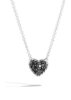 John Hardy Chain Classic Pavé Heart Pendant Necklace