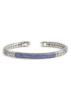 John Hardy Classic Chain & Gemstone Cuff Bracelet
