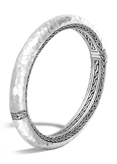 John Hardy Classic Chain 8.5mm Hammered Hinged Bangle