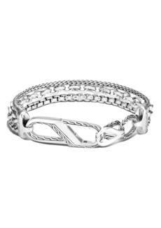 John Hardy Classic Chain Asli Stacked Bracelet