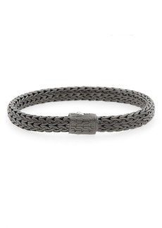John Hardy Men's Classic Chain Black Rhodium Plate Bracelet