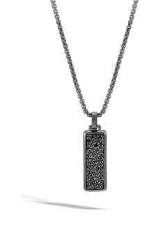 John Hardy Classic Chain Black Sapphire Pendant Necklace