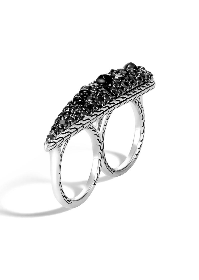 John Hardy Classic Chain Black Sapphire Two-Finger Ring