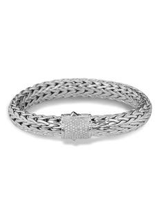 John Hardy Classic Chain Bracelet with Pavé Diamonds
