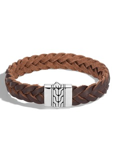 John Hardy Classic Chain Braided Leather Bracelet