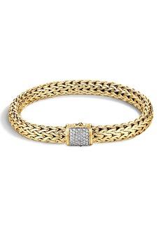 John Hardy Classic Chain Diamond & 18K Gold Medium Bracelet