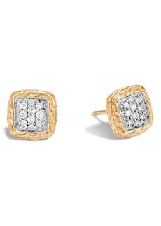 John Hardy Classic Chain Diamond Pavé Stud Earrings