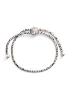 John Hardy Classic Chain Diamond Pull Through Bracelet