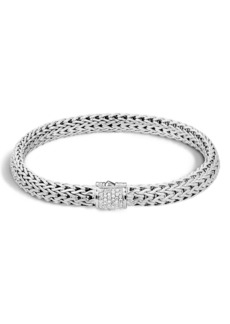 John Hardy 'Classic Chain' Diamond Small Bracelet