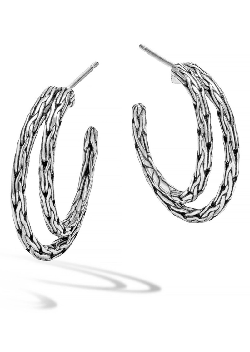 John Hardy 'Classic Chain' Double Hoop Earrings