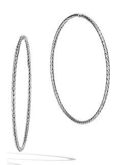 John Hardy Classic Chain Extra Large Hoop Earrings