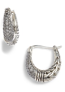 John Hardy Classic Chain Gemstone Hoop Earrings