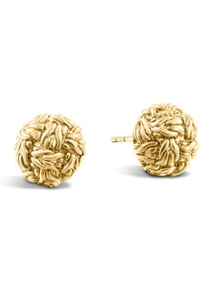 John Hardy Classic Chain Gold Stud Earrings