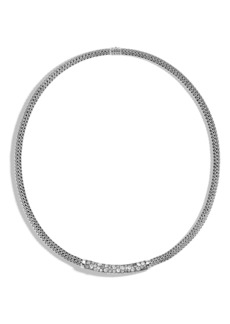 John Hardy Classic Chain Grey Diamond Pavé Necklace