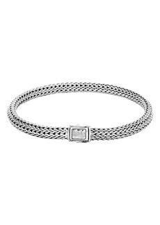 John Hardy Classic Chain Hammered Clasp Bracelet