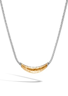 John Hardy Classic Chain Hammered Station Necklace