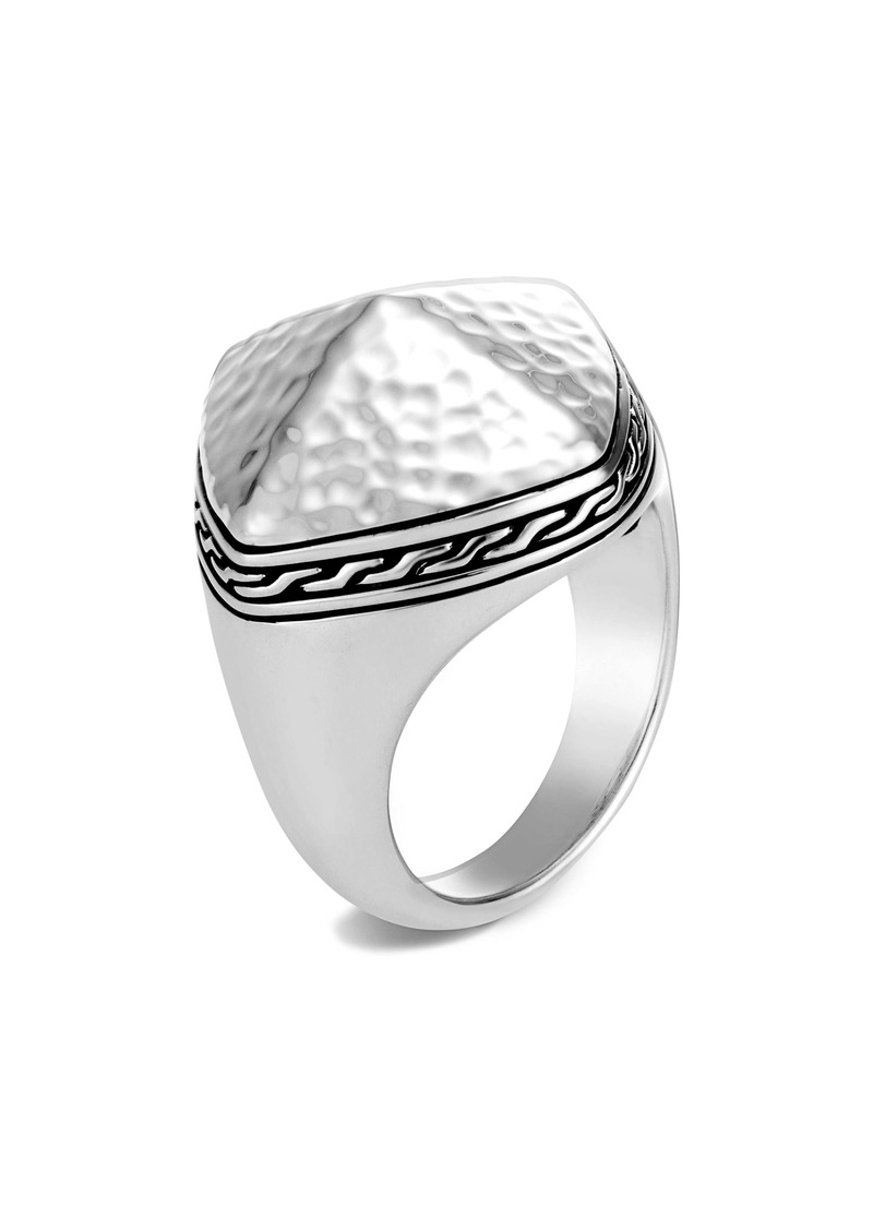 John Hardy Classic Chain Hammered Sugarloaf Ring