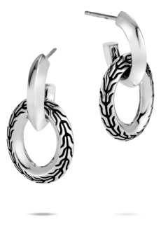 John Hardy Classic Chain Knife Edge Drop Earrings