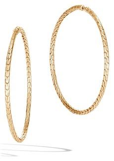 John Hardy Classic Chain Large Hoop Earrings