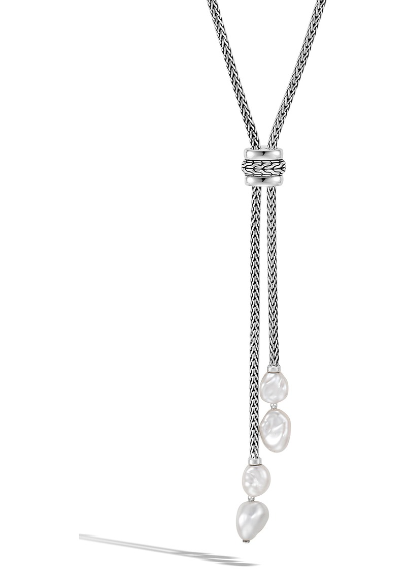 John Hardy Classic Chain Lariat Necklace