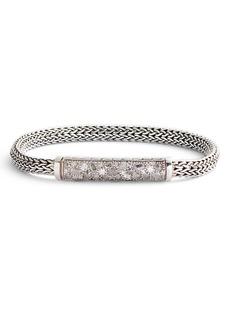 John Hardy Classic Chain Lava Grey Diamond 5mm Bracelet